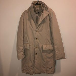 Ciesse Puffer trench coat Duck feather filled tan